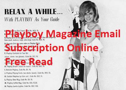Playboy Magazine Email Subscription Online Free Read