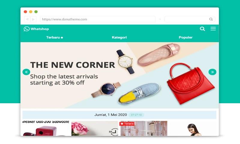 XML Whatshop Online Template Blogger - Responsive Blogger Template