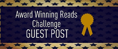 Award Winning Reads Challenge Guest Post banner by The Reading Housewives