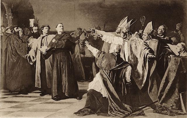 Resultado de imagem para igreja catolica contra lutero