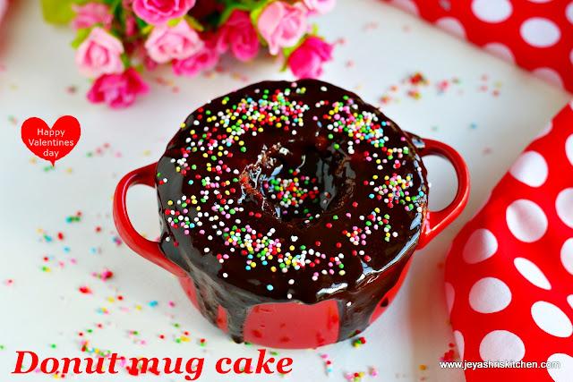 Donut mug cake