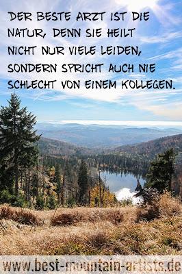 """""""Der beste Arzt ist die Natur, denn sie heilt nicht nur viele Leiden, sondern spricht auch nie schlecht von einem Kollegen."""", Ernst Ferdinand Sauerbruch"""