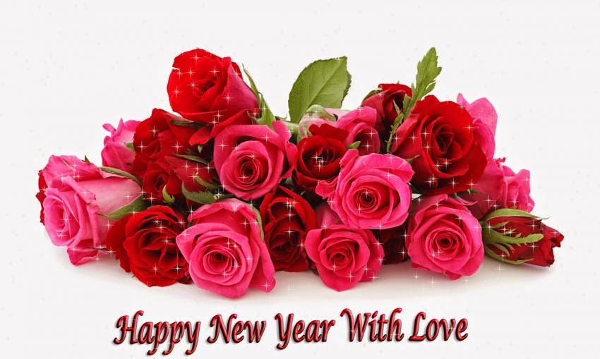 Happy New Year 2016 Red Rose Images Free Download