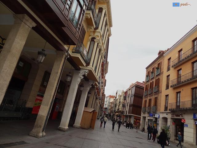 Pórticos de la calle mayor de Palencia