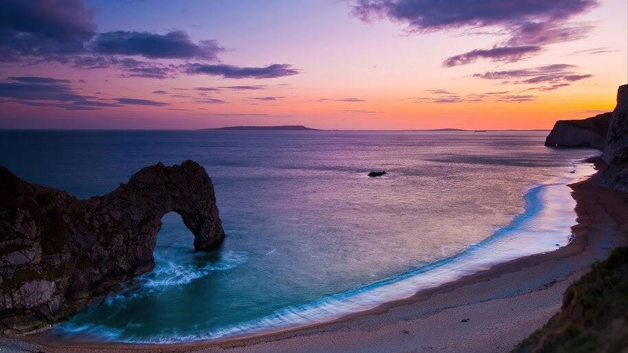 Sea, Beach, Nature, Scenery, Sunset, 4K, #6.972