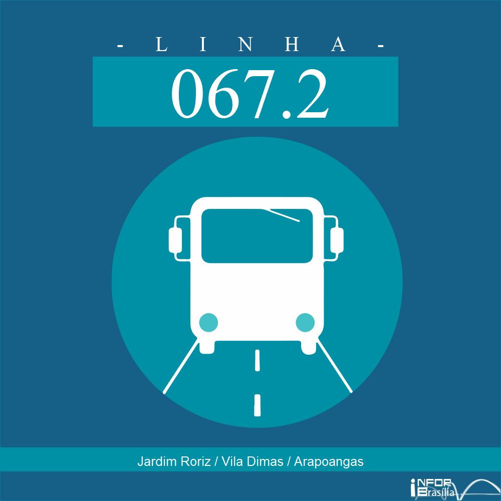 Horário de ônibus e itinerário 067.2 - Jardim Roriz / Vila Dimas / Arapoangas
