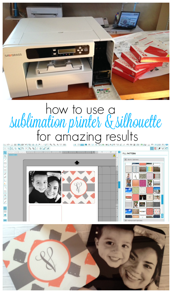 Sublimation printer and Silhouette Studio, using silhouette cameo with sublimation, sublimation printer with silhouette studio