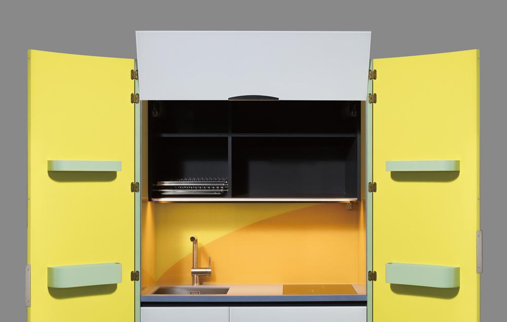 Una micro cucina per piccoli spazi, senza rinunciare a design e ...