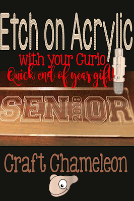How to etch an acrylic bookmark using a Curio