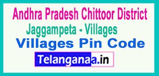 East Godavari District Jaggampeta Mandal and Villages Pin Codes in Andhra Pradesh State