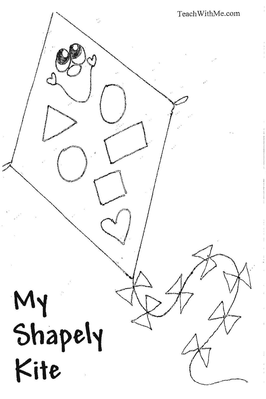 Classroom Freebies Too Pk 2 My Shapely Kite Booklet