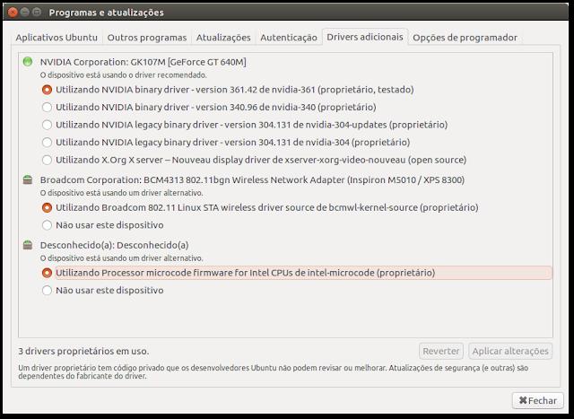 Driver no Ubuntu 16.04 LTS