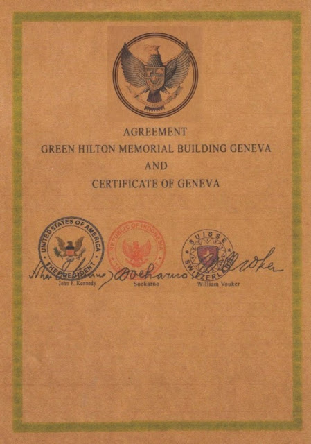 The Green Hilton Memorial Agreement - Harta Karun Emas Indonesia di Geneva