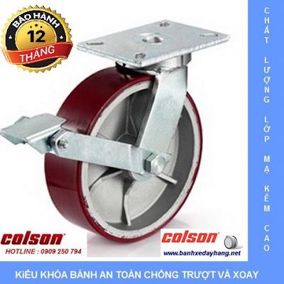 Giá bánh xe đẩy chịu tải trọng cao có khóa Colson Caster Mỹ www.banhxepu.net