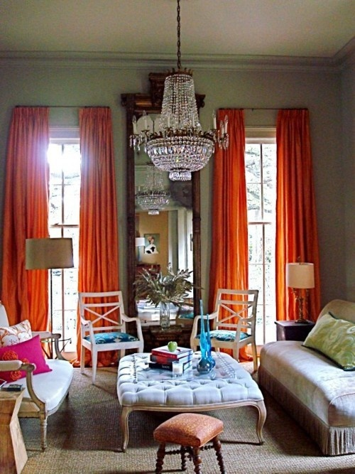 Tangerine Living Room Decor: Turquoise, Tulips And Bliss: Tangerine Dreamin' On Tuesday