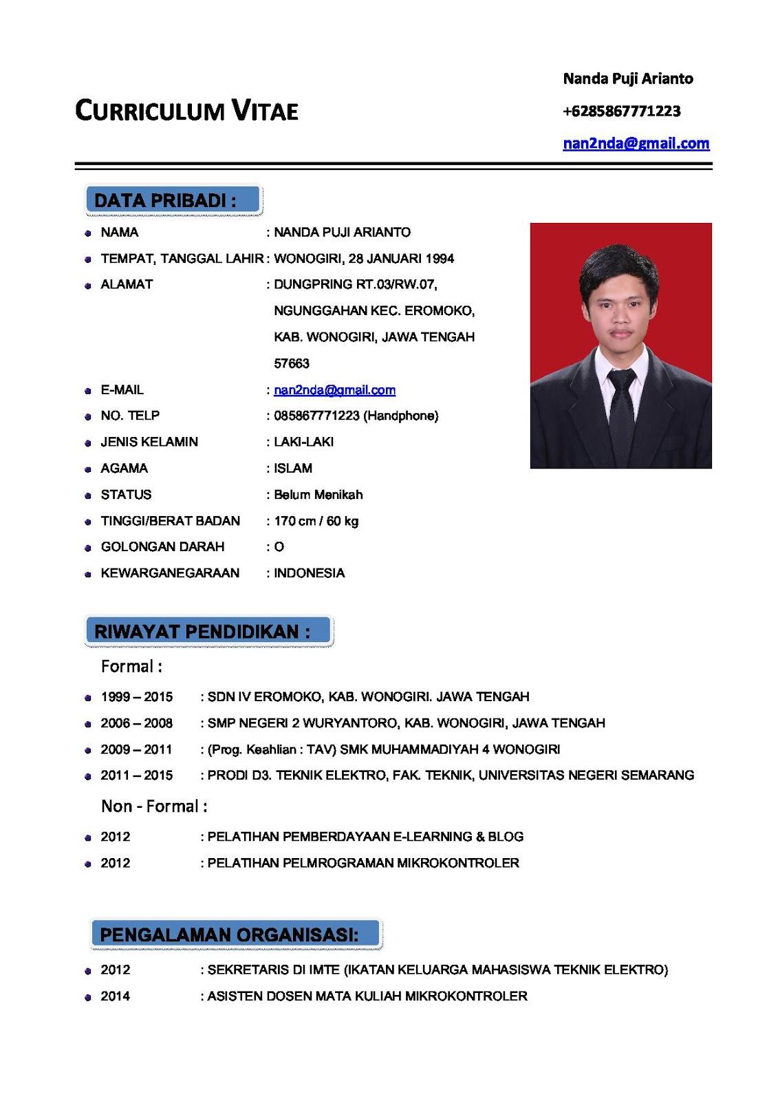curriculum vitae terbaru resume samples writing guides curriculum vitae terbaru curriculum vitae cv format the balance cv curriculum vitae atau daftar riwayat hidup