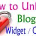 How To Lock & Unlock a Blogger Widget / Gadget