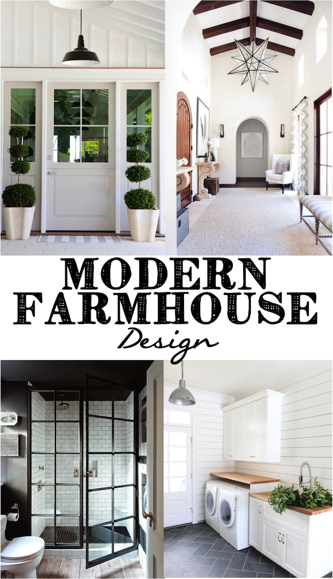 I have been recently loving the modern farmhouse look filled with clean lines shiplap white walls and industrial pendants i owe this new found love to