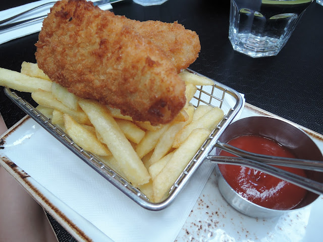 57 cafe;  fish and chips, lunch