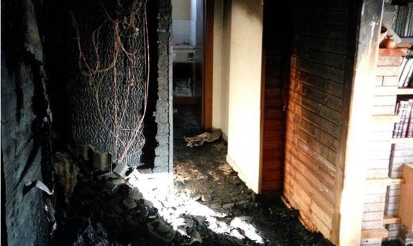 Casa incendiada en Yizhar