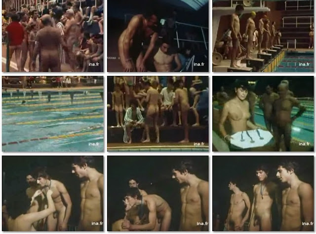 naked lads swimming