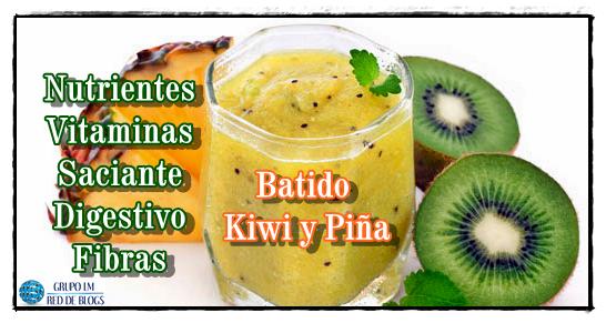 batido de kiwi y manzana para adelgazar