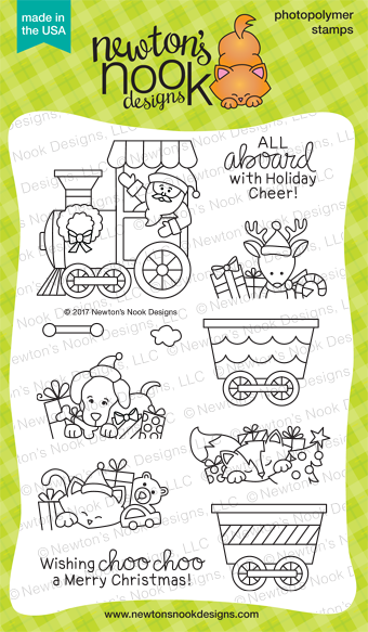 All Aboard For Christmas Stamp Set by Newton's Nook Designs