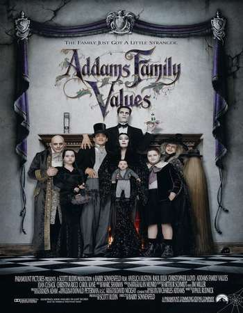 Poster Of Addams Family Values 1993 Dual Audio 350MB Web-DL 720p ESubs HEVC Free Download Watch Online Worldfree4u