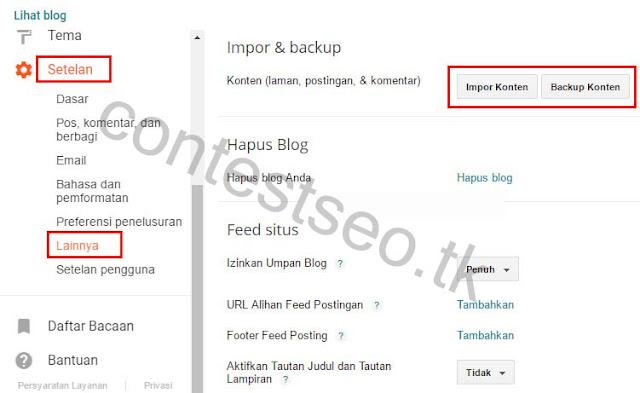 Cara backup postingan blog dengan cepat dan mudah