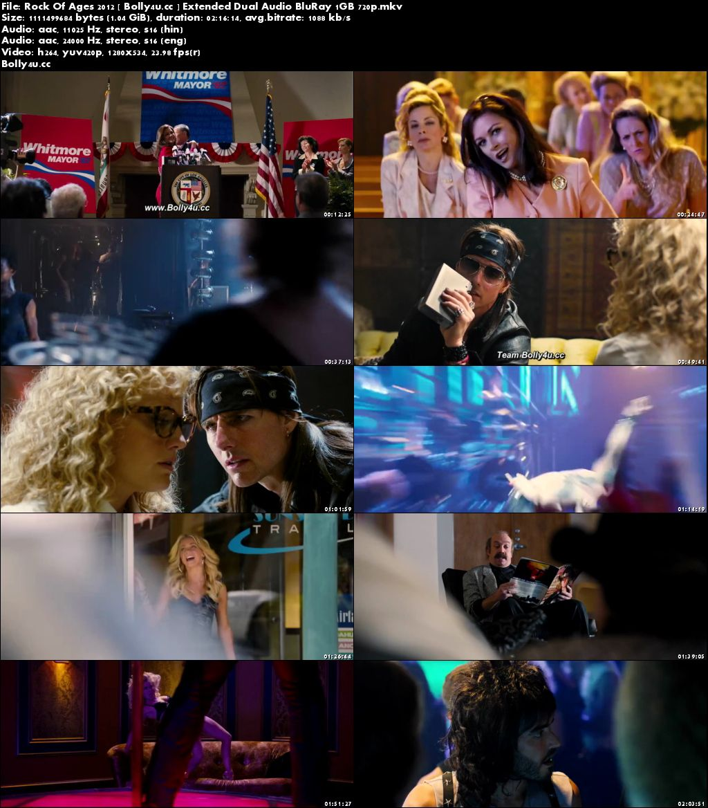 Rock Of Ages 2012 BluRay 1Gb Extended Hindi Dual Audio 720p Download