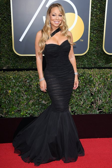 mariah carey in dolce & gabbana golden globes 2018