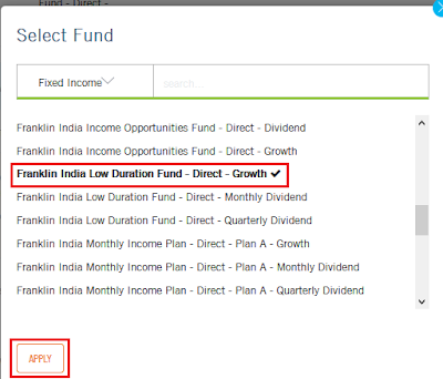 Franklin India - Mutual Fund Switch Online