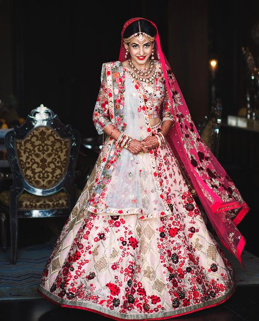 Image result for floral wedding lehenga
