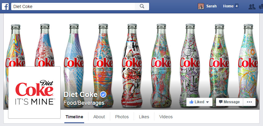 Diet Coke Facebook Cover Photo