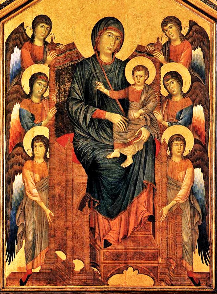 Madonnas Attributed To Cimabue Italian Painter C 1240 1302