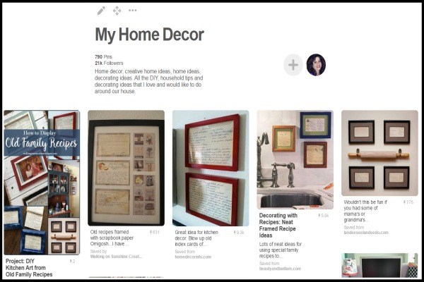 My Home Decor Pinterest Board from Walking on Sunshine