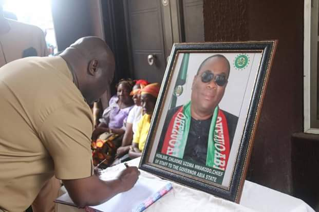 """Nwakodo was the engine room of my  administration, he  gave everything for Abia State"""" - @GovernorIkpeazu"""