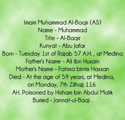 Imam Muhamamd Baqir As