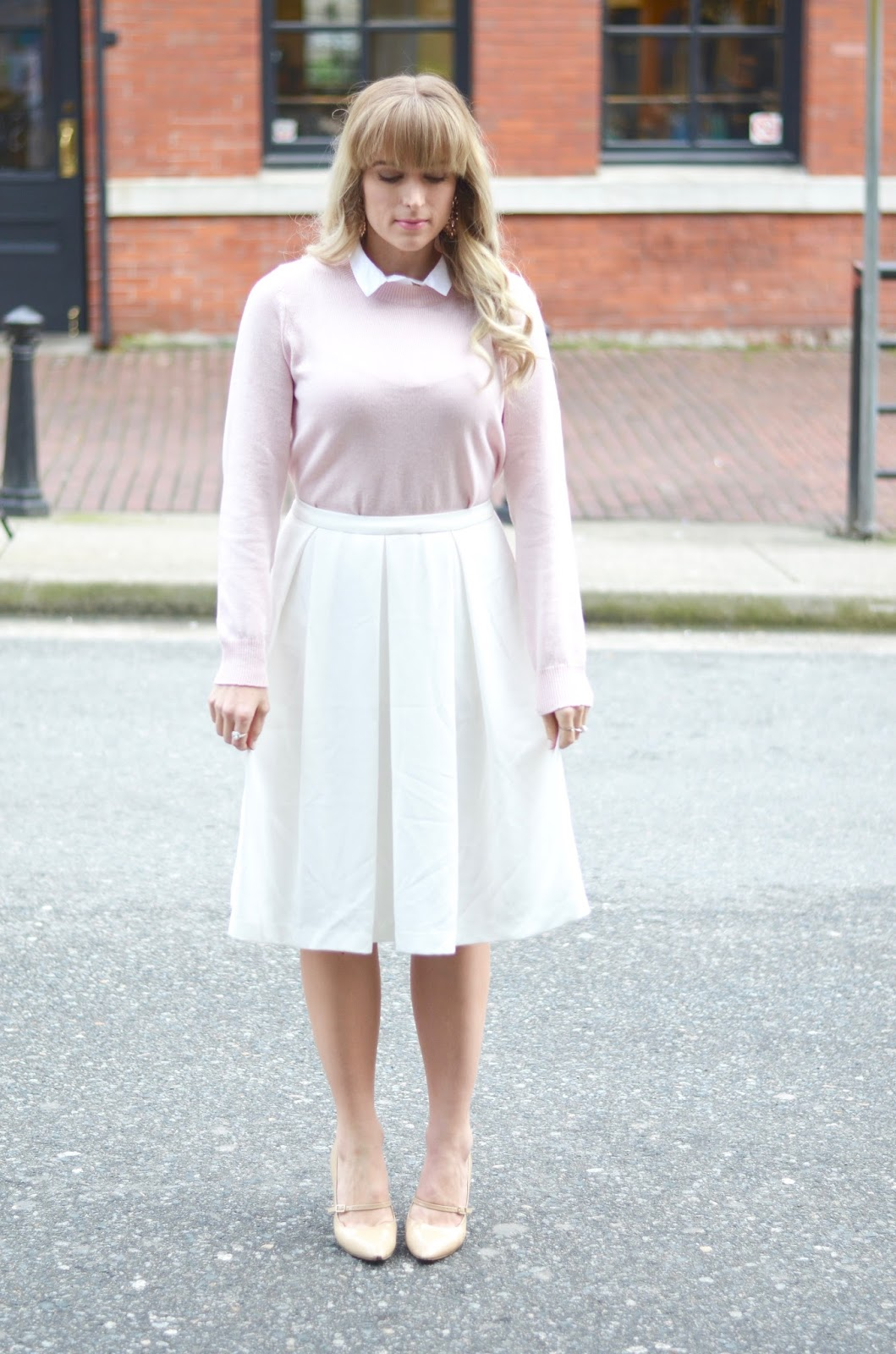 how to style a midi skirt for the ofice