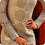 Vestido encaje a Ganchillo