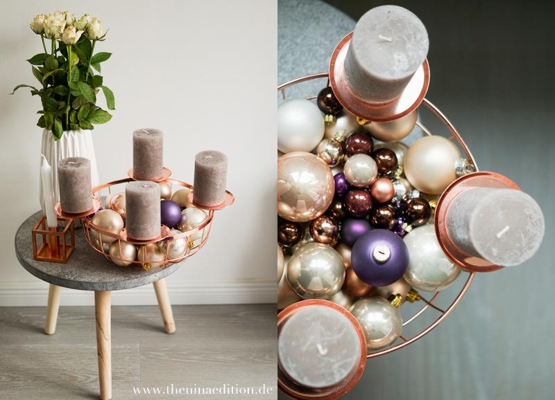 diy adventskranz in kupfer the nina edition the nina. Black Bedroom Furniture Sets. Home Design Ideas