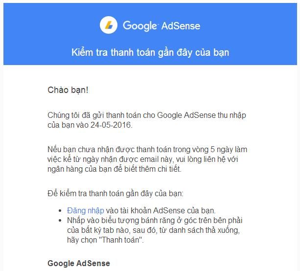 Rút tiền từ Google Adsense bằng hình thức Western Union