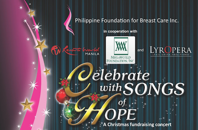 "PRESS RELEASE: ""Celebrate with Songs of Hope: A Christmas Fundraising Concert"""