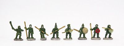 Psiloi Skirmishers x 3 / Unarmoured Hoplites x 2 / Peltasts x 3