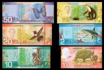 Billetes de colones, Costa Rica, vuelta al mundo, round the world, La vuelta al mundo de Asun y Ricardo, mundoporlibre.com