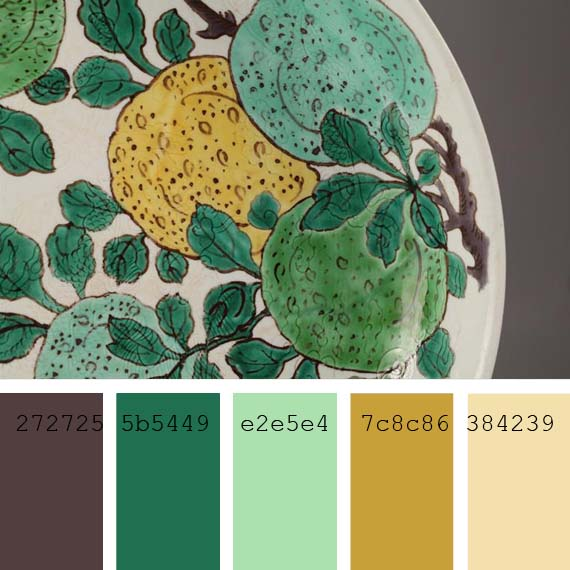 combinations of celadon green color, ceramic hues