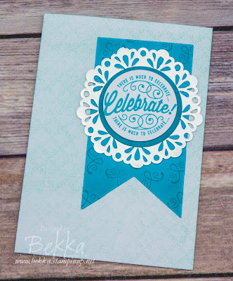 Celebration Card featuring Here's to Cheers from Stampin' Up! UK - Get these stamps here