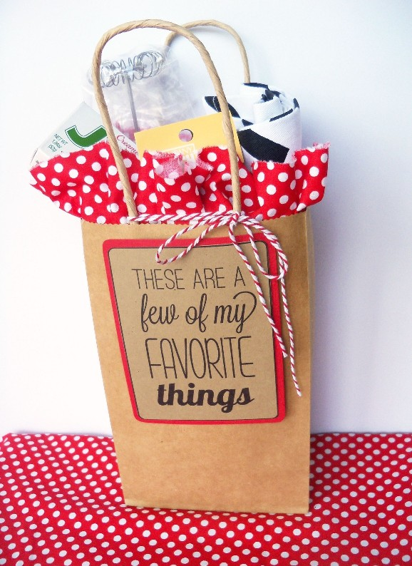My Favorite Things Gift Idea Printable My Sisters Suitcase