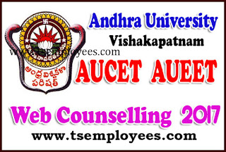 AUCET  AUEET Web Counselling  2017 Web Options for 1st Phase 2nd Phase Dates