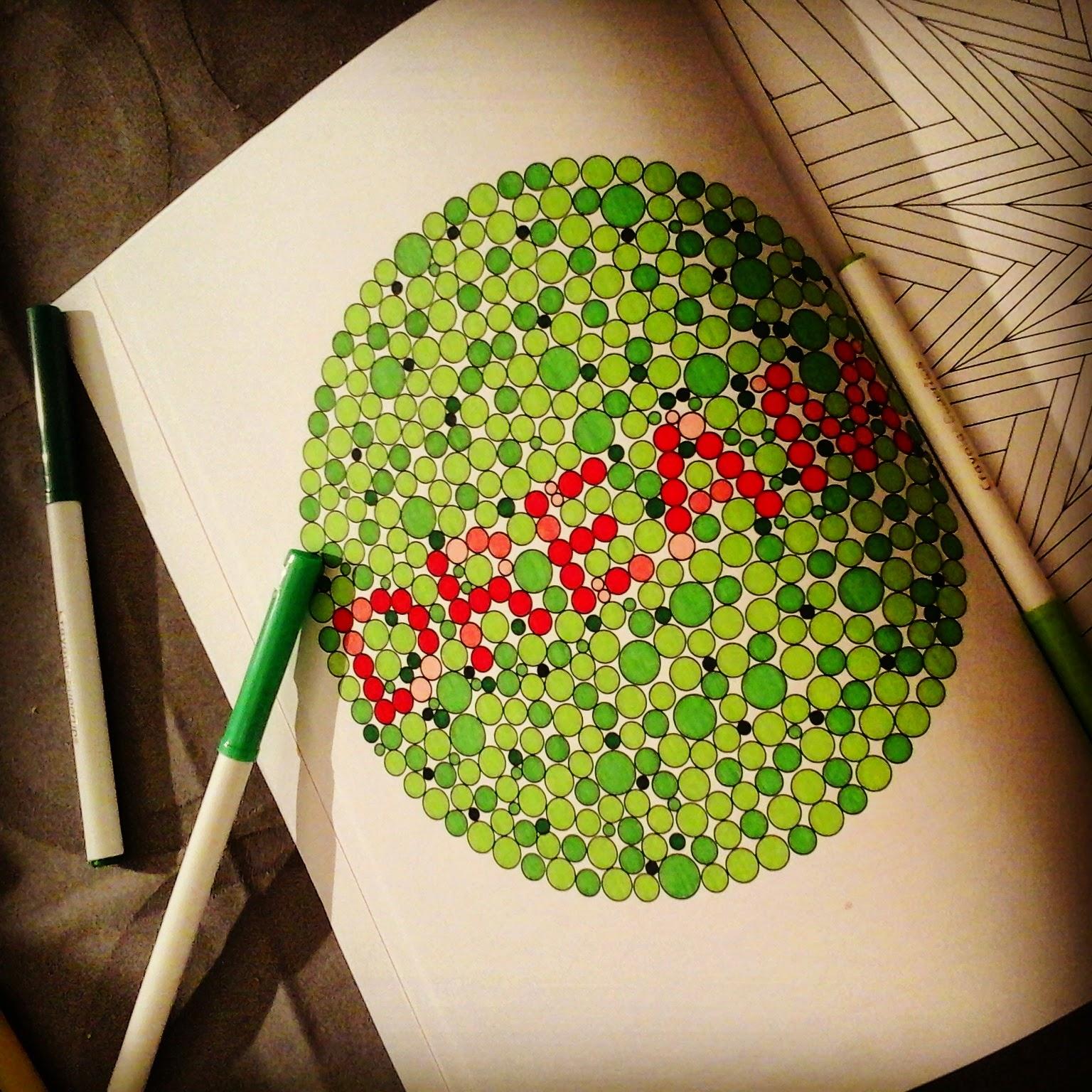 Coloriage Anti Stress Illusion Doptique.Le Coloriage Pour Adultes Art Therapie Mars 2015